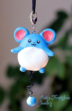 Marill Pokemon Fanart Necklace by ~Sakiyo-chan on deviantART