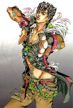 Kenshiro of Fist of the North Star, as drawn by Hirohiko Araki!