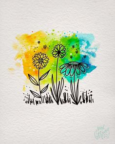 What is happiness? One of the things that makes me very happ.- What is happiness? One of the things that makes me very happy is doodling and pa… What is happiness? One of the things that makes me very happy is doodling and pa…, - Watercolor And Ink, Watercolor Flowers, Watercolor Paintings, Watercolours, What Is Happiness, Happy Paintings, Flower Cards, Ink Art, Zentangle