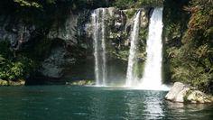 Waterfall jeju island