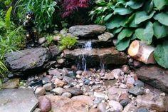 Modern Diy Garden Pond Waterfall Ideas For Backyard - Garden Design Ideas 2019 Backyard Water Feature, Ponds Backyard, Small Garden Ponds, Diy Water Feature, Koi Ponds, Pond Landscaping, Landscaping With Rocks, Landscape Design, Garden Design