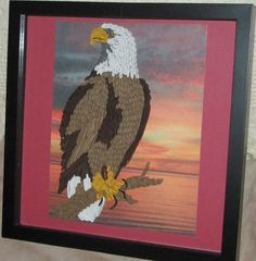 Quilled Eagle  made by Paula Hogue
