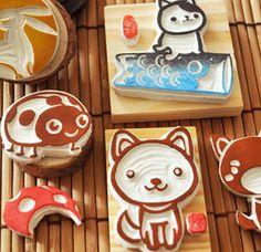日式 橡皮章,Stamp Carving Patterns, Simple Printmaking for Kids , Carving with  Eraser Carving, Stamps , Printing, Carving Tools, Pattern, Template, Idea, Art Teacher, Art  Design, DIY , Japanese, Activities for Kids,cute cartoon animals