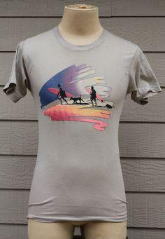 vintage 1970s California beach surfing t-shirt size Medium