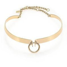 Alexis Bittar Miss Havisham Bar Choker Necklace ($310) ❤ liked on Polyvore featuring jewelry, necklaces, accessories, choker, gold, apparel & accessories, choker necklace, yellow gold jewelry, gold necklace and gold jewellery