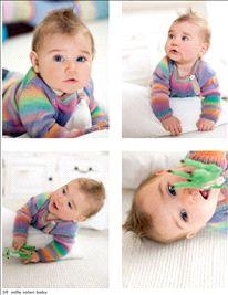 Breipatroon Wikkelvest, uit Lang Yarns magazine 206 baby.