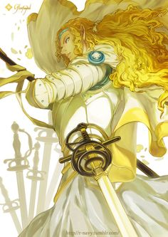 Glorfindel at the Fall of Gondolin by Rain Piece