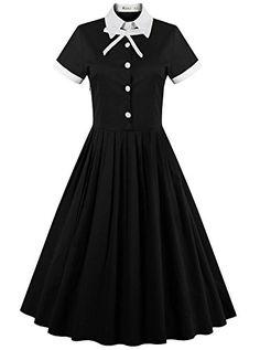 REORIA Womens Classy 1950's Vintage Polo Neck Wear to Work Flared Swing Dress Black X-Large  https://www.amazon.com/gp/product/B01FDTOXGY/ref=as_li_qf_sp_asin_il_tl?ie=UTF8&tag=rockaclothsto-20&camp=1789&creative=9325&linkCode=as2&creativeASIN=B01FDTOXGY&linkId=295e4408cb8cb2f59a8cc5d4972e4c5c