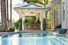 Exterior design Ideas For Modern Gazebo Wedding Pergola, Diy Pergola, Outside Living, Outdoor Living, Modern Gazebo, Garden Pavilion, House Of Turquoise, Outdoor Spaces, Outdoor Decor