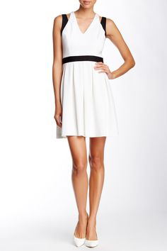 Sleeveless V-Neck Shoulder Cutout Dress by Jessica Simpson on @nordstrom_rack