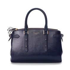 With its sophisticated and refined demeanour, our new Brook Street Bag is an ultra-luxe statement accessory for the city-chic girl. Handmade from the finest vegetable tanned Navy lizard print Italian calf leather, this beautifully sculpted and...