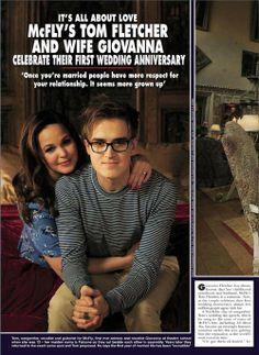 Tom Fletcher & Giovanna Fletcher in HELLO! Magazine 2013 #1.