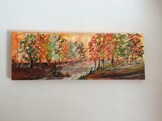 """""""Autumnal Path"""",  Acryl auf Leinwand (100x40), Linde Gäste"""