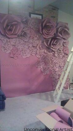 Making a chicago designer set prop artistic director valentines day photo shoot photoshoot idea concept love romance romantic paper flower background editorial idea set design