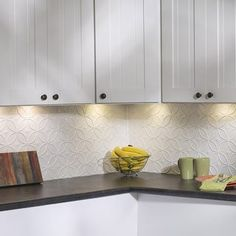 Fasade Rings Gloss White 18 in. x 24 in. Backsplash Panel - Free Shipping On Orders Over $45 - Overstock.com - 17482078 - Mobile