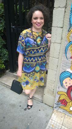 Look que usei no lançamento do meu livro na Livraria da Vila (SP): vestido #lojaprosa e colar #zellig.