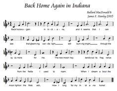 Back Home Again in Indiana