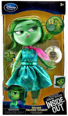 Disney store inside out disgust deluxe talking doll light up memory 9.5