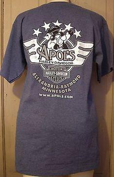 davidson motorcycles pocket t-shirt harley hog h.o.g.apol's men's size