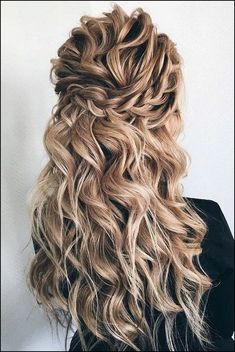 hair styles for medium hair hair and make up near me . - Wedding Hairstyles - hair styles for medium hair hair and make up near me hair medium length - Wedding Hairstyles Half Up Half Down, Wedding Hair Down, Wedding Hair And Makeup, Hair Makeup, Curly Hair Half Up Half Down, Prom Hair Down, Hair Down With Braid, Classic Wedding Hair, Wedding Hair With Braid
