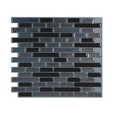 Found it at Wayfair - Mosaik Muretto Nero 9.1'' x 10.2'' Peel & Stick Wall Tile in Black & Gray