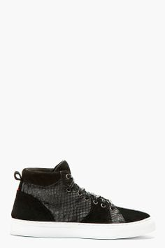 info for 90b8f 18aa1 DIEMME Black Python   Suede PARIOLI Mid-Top Sneakers Herrprodukter, Nike  Dunks, Lacoste