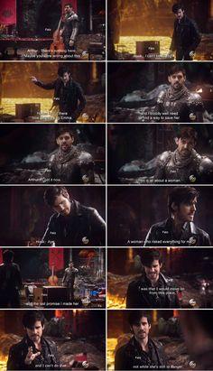 "Killian & Arthur - Once Upon a Time 5x21 ""Last Rites"" #CaptainHook #KingArthur"