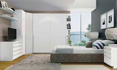 Quarto Modulado de Casal com 9 módulos Exclusive Branco - Henn | Lojas KD