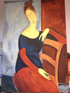 Modigliani's wife  by Modigliani