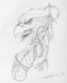Have my dad color something like this Native Tattoos, Eagle Tattoos, Eagle Feather Tattoos, Native Art, Native American Art, Tattoo Plume, Tattoo Drawings, Art Drawings, Eagle Drawing