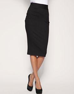 black pencil skirt...good length