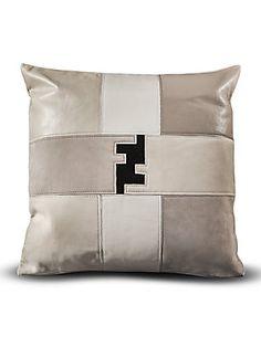 Fendi Casa Patchwork Fendi Logo Pillow