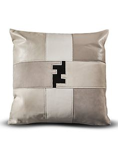 Fendi Casa Patchwork Fendi Logo Pillow