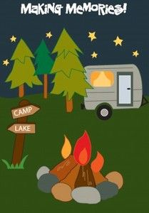 camping applique | MAKING-MEMORIES-CAMPING-RV-CAMPER-CAMPGROUNDS-Applique-Custom-Decor ...