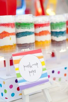 Party Printable - Rainbow Art Paint Party Printable Blank Food Labels - Petite…