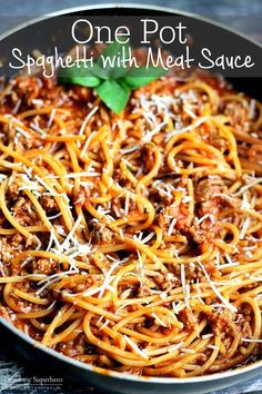 Spaghetti with Meat( Substitute meat for mushrooms) Sauce | 27 Meals You Can Make On A Tight Budget