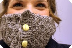 Persia Lou's awesome cowl.... Hard to find a crocheted cowl this unique looking!