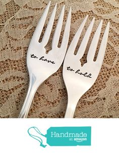 to have & to hold :hand stamped forks, vintage by Lorelei Vella, Camelot… Bhldn