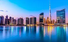 Télécharger fonds d'écran Dubaï, 4k, Golden City, paysage urbain, Burj dubai, ÉMIRATS arabes unis
