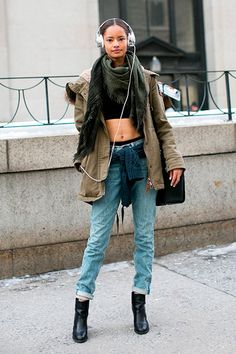 How to Wear Crop Tops In Winter  #croptop #fashiontrends #styletips
