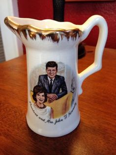 Vintage jfk cream pitcher. Used old. Please see closeup pictures for condition.