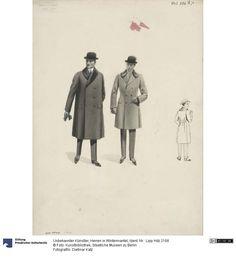 Herren in Wintermantel , 1920