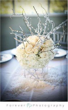 Carnet d'inspirations : mariage hivernal blanc