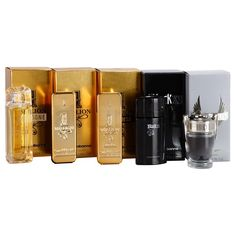 Paco Rabanne Mini dárková sada I. - 1 Million 5 m, 1 Million Intense 5 ml, 1 Million Cologne 7 ml, Invictus 5 ml, Black XS 5 ml