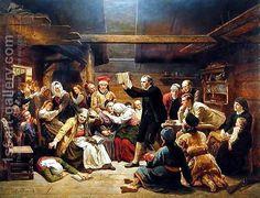 Adolph Tidemand (1814–1876): The Fanatics, 1866
