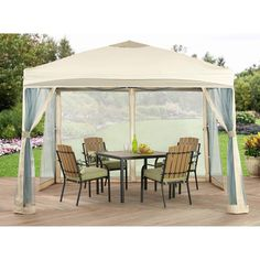 Gazebo Canopy With Mosquito Net 10' x 10' Outdoor Garden Patio Furniture New #1