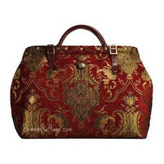 Large Victorian Carpetbag - Queen Anne (Red)