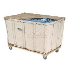 Steel frame commercial laundry cart