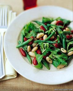 Our version of three-bean salad, a perennial picnic favorite, is made by tossing haricots verts, kidney beans, and cannellini with a tangy honey-mustard vinaigrette. Honey Recipes, Whole Food Recipes, Mustard Vinaigrette Recipe, Three Bean Salad, Three Beans, Vegetarian Recipes, Healthy Recipes, Healthy Foods, Get Thin