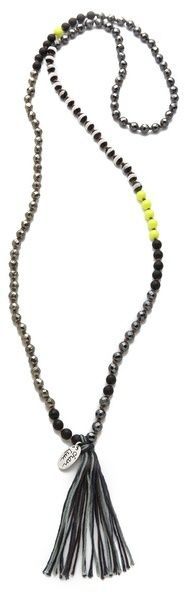 Chan luu Beaded Necklace with Tassel $167.00 thestylecure.com